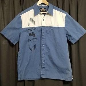 Harley-Davidson Bowler Style Button-up Shirt